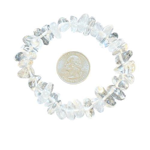 Clear Quartz Nugget Bracelet with Quarter