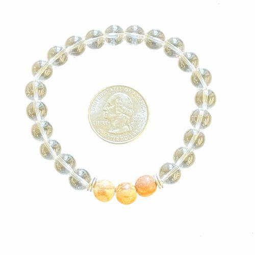 Clear Quartz & Palo Santo Bracelet