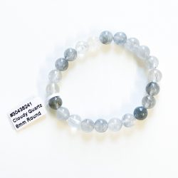 Cloudy Quartz 8 mm Bracelet