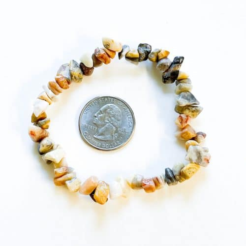 Crazy Lace Agate Chip Bracelet