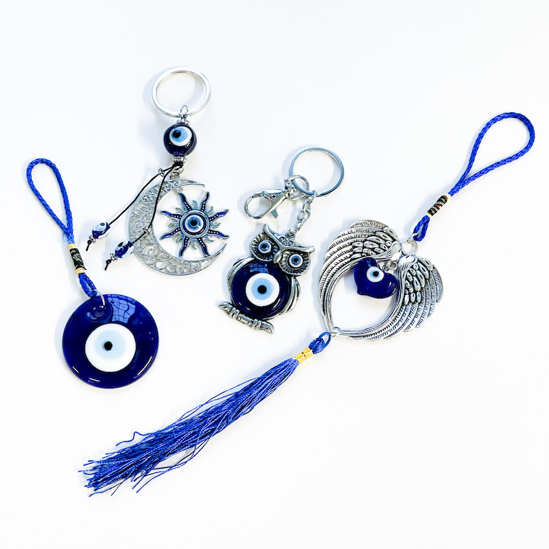 Blue Eye Protection Ornament or Keychain