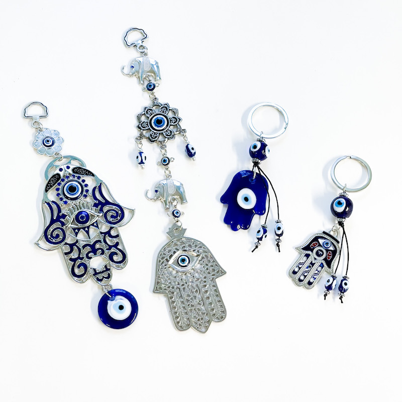 Hamsa Hand Hanging Ornament or Keychain