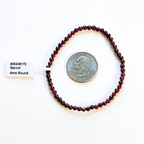 Garnet 4mm Bracelet