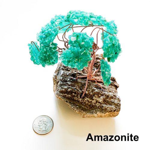Gemstone Tree - Amazonite with Quarter