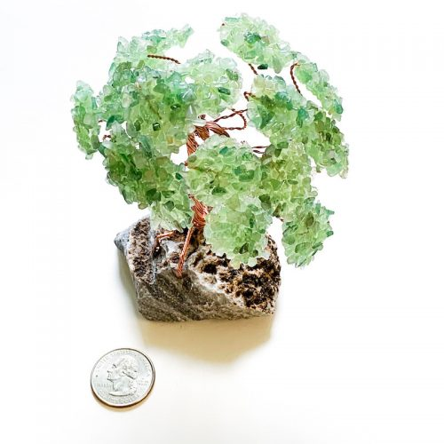 Gemstone Tree - Green Aventurine with Quarter