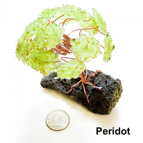 Gemstone Tree - Peridot with Quarter