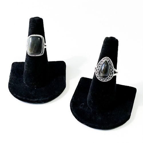 Golden Sheen Obsidian Ring