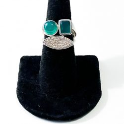 Green Onyx Size 7 Ring