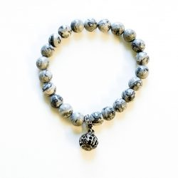 Grey Jasper 8 mm Bracelet