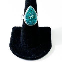 Malachite in Chrysocolla Size 7 Ring