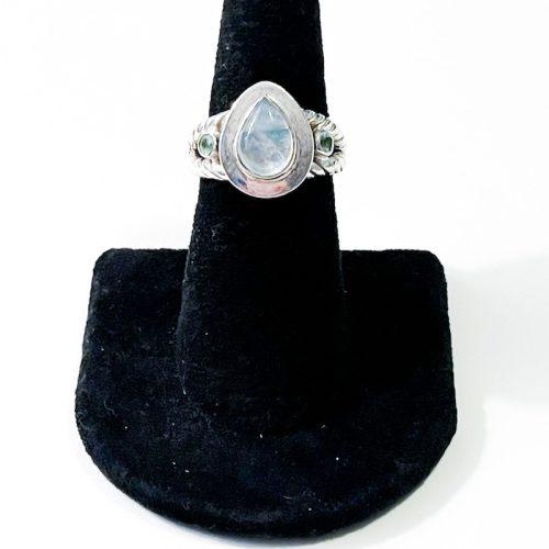 Moonstone and Aquamarine Size 7 Ring