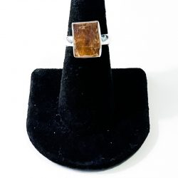 Orange Kyanite Size 7 Ring