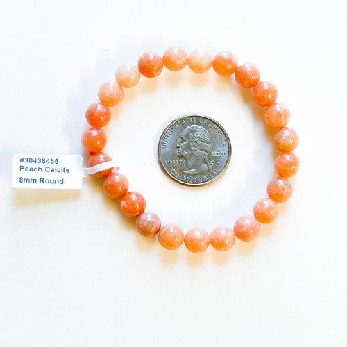 Peach Calcite 8 mm Bracelet