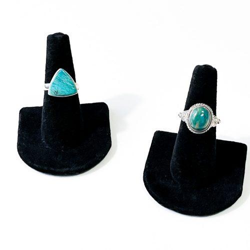 Peruvian Blue Opalina Ring