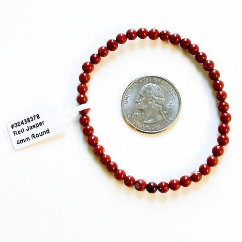 Red Jasper 4 mm Bracelet
