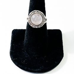 Rose Quartz Circular Size 7 Ring