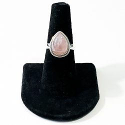 Rose Quartz Teardrop Size 7 Ring
