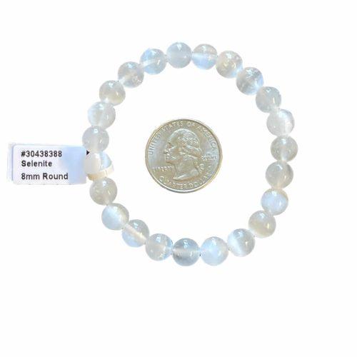 Selenite 8 mm Bracelet