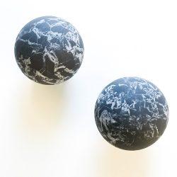 Shungite with Quartz Sphere