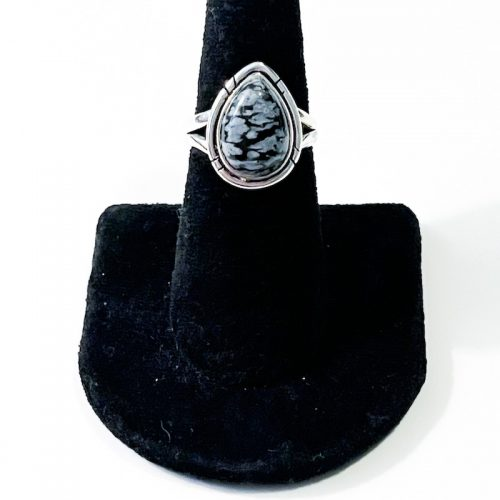 Snowflake Obsidian Size 7 Ring