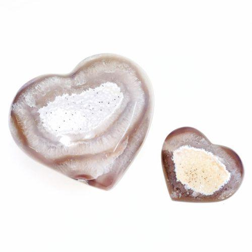 Druzy Agate Heart