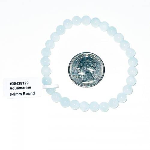 Aquamarine Bracelet 7 mm
