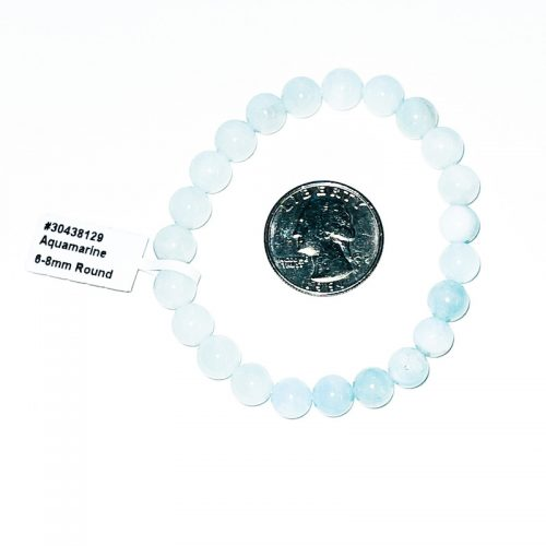 Aquamarine Bracelet 8 mm