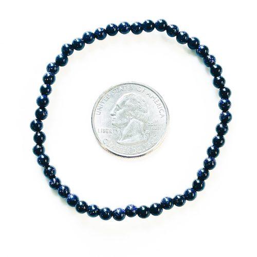 Blue Goldstone Bracelet 4 mm