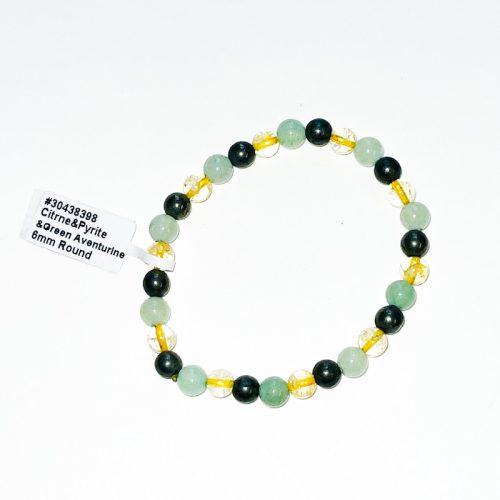 Citrine, Green Aventurine, and Pyrite Bracelet