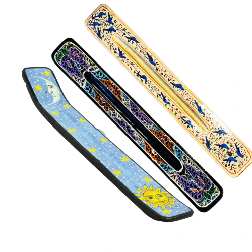 Cover- painted incense holders