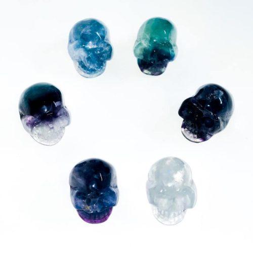 Fluorite Skull 2 inch