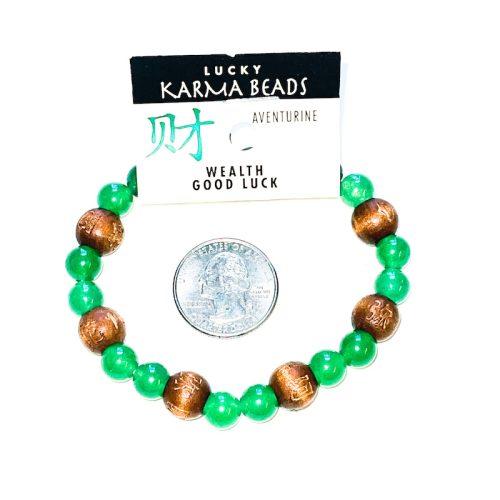 Green Aventurine Lucky Karma Bracelet