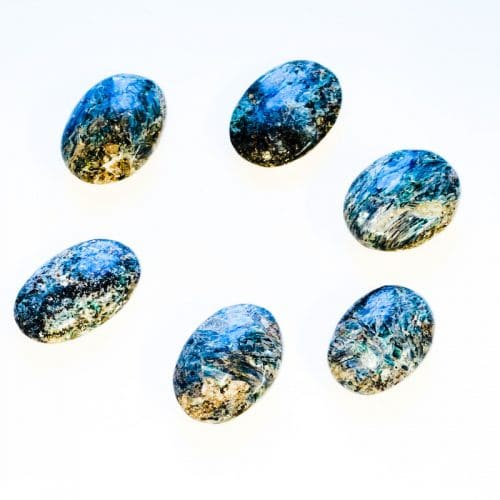 Green and Blue Kyanite Palm Stone