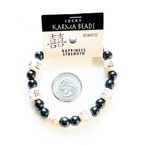 Hematite Lucky Karma Bead Bracelet