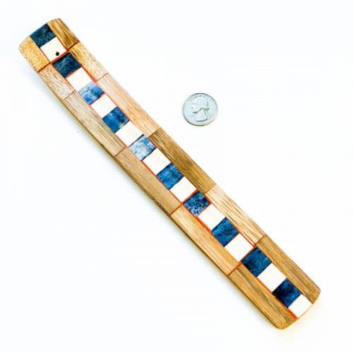 Incense Holder Mosaic Inlay Blue and White Square