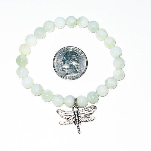 Jade Bracelet with Dragonfly Charm