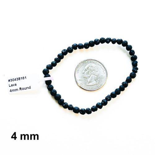 Lava Stone Bracelet 4 mm