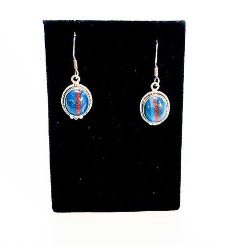 Rainbow Calcilica Earrings