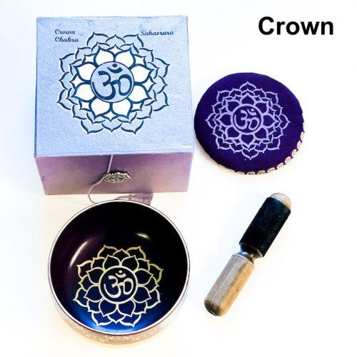 Crown Chakra Tibetan Singing Bowl Gold Bottom -