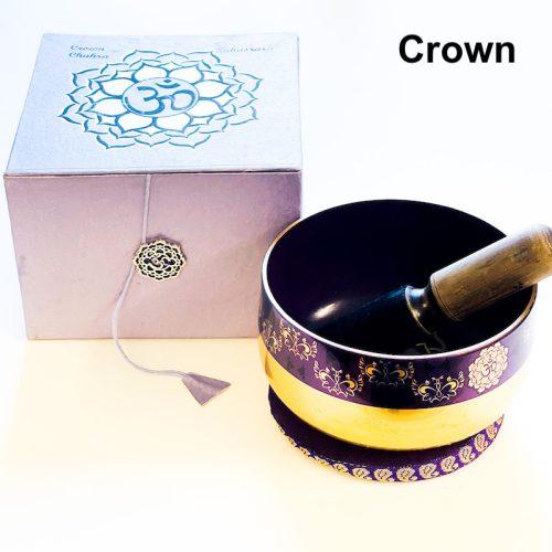 Crown Chakra Tibetan Singing Bowl Brass Bottom