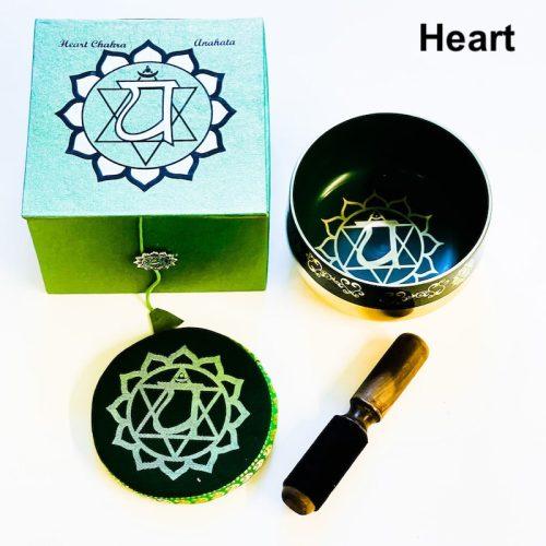 Heart Chakra Tibetan Singing Bowl Brass Bottom -