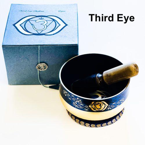 Tibetan Singing Bowl Gold Bottom - Third Eye Chakra 2