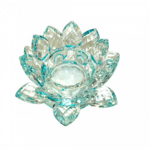 Turquoise Lotus Tealight Holder