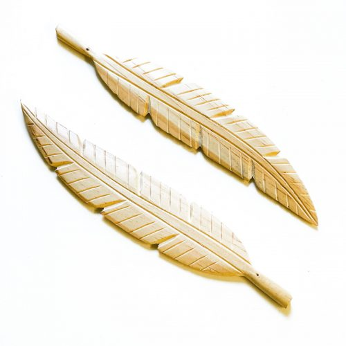 Wood Feather Incense Holder