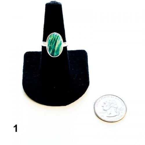 Amazonite Ring Size 8 1 with Quarter