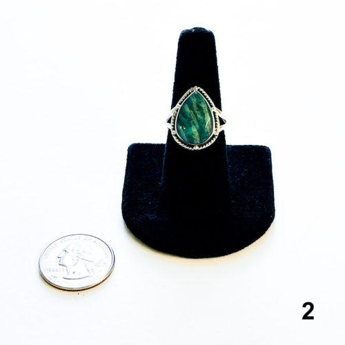 Amazonite Ring Size 8 2with Quarter