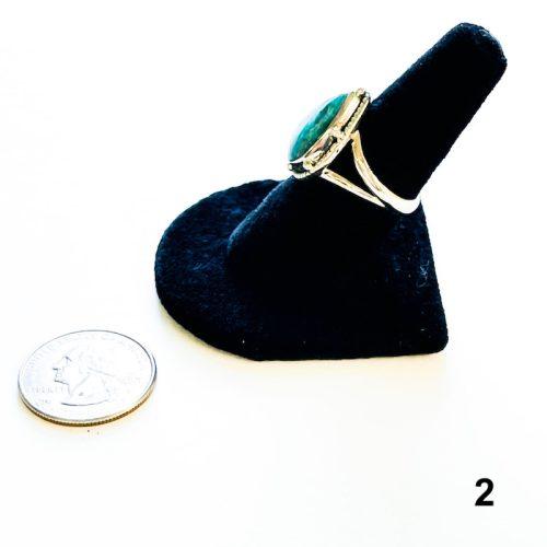 Amazonite Ring Size 8 2 with Quarter