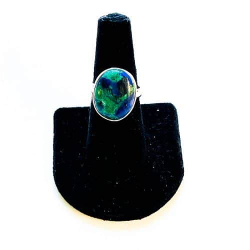 Azurite and Malachite Ring Size 8