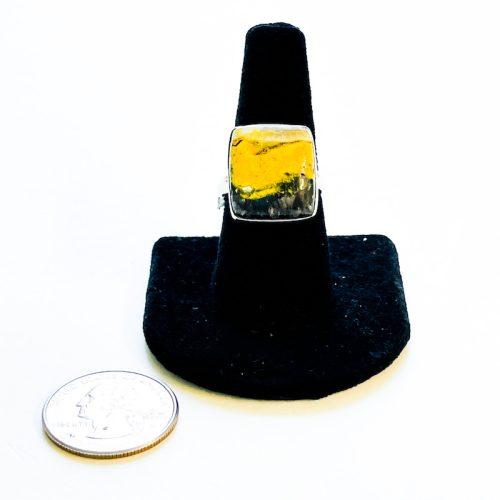 Bumble Bee Jasper Ring Size 8
