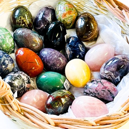 Gemstone Egg in basket